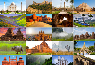 World Heritage Destinations in India